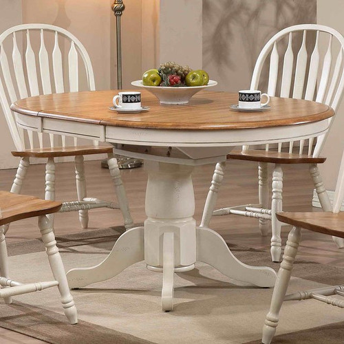 ECI Four Seasons Lancaster Dining Table Antique White with Rustic