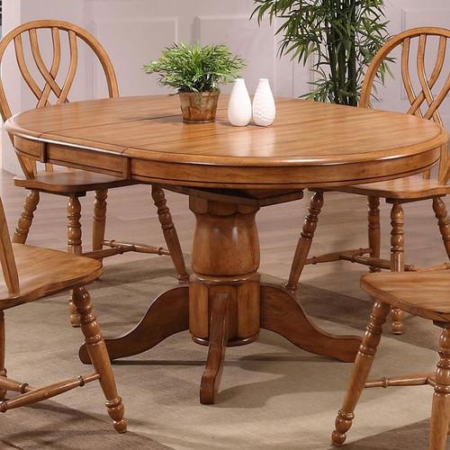 ECI Four Seasons Lancaster Dining Table Rustic Oak