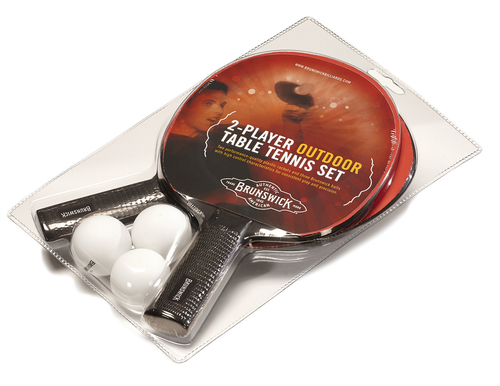 Brunswick Smash I/O Indoor/Outdoor Table Tennis 2-Player Racket Set