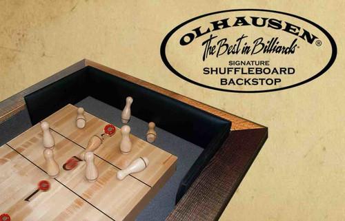 "Olhausen Shuffleboard Back Stop - For 20"" Wide Board"