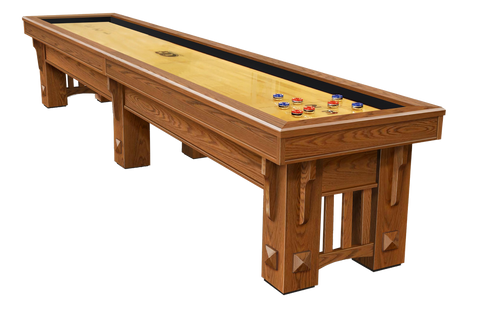 Olhausen Coronado Shuffleboard Traditional Mahogany on Oak
