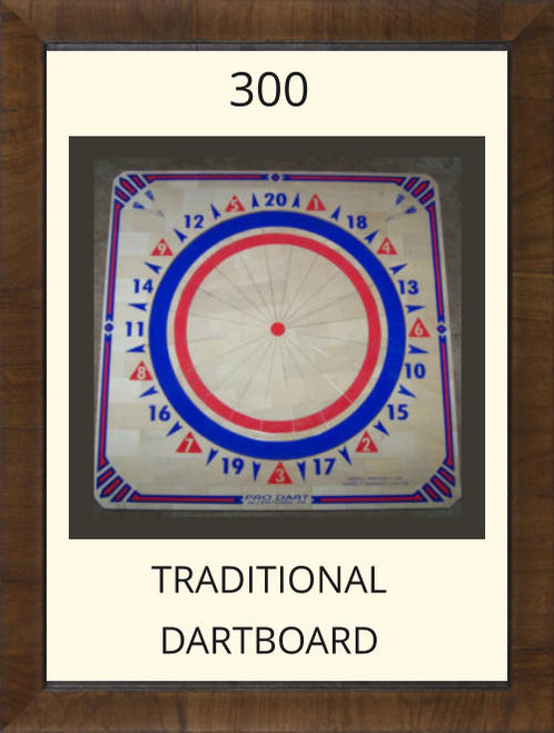 Pro Dart Red/Blue Dart Board #300