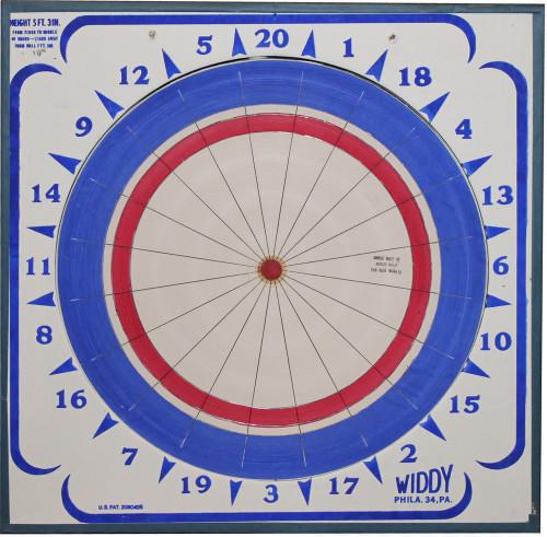 Widdy Paper Dart Board