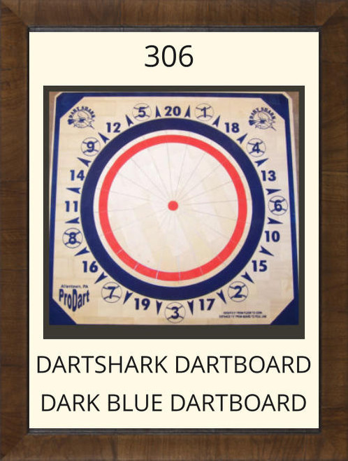Pro Dart Dart Shark Dark Blue Dart Board #306