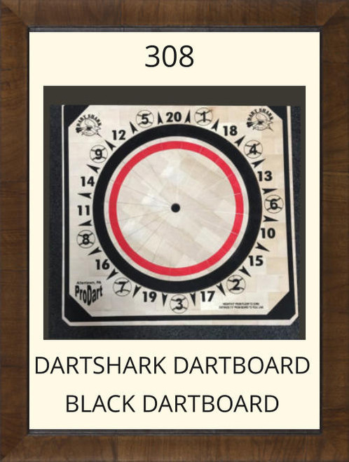 Pro Dart Dart Shark Black Dart Board #308