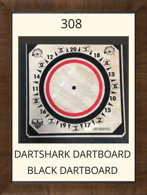 Pro Dart Dart Shark Black Dart Board #308