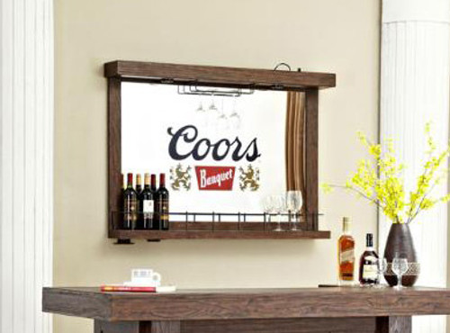 ECI Coors Banquet Wall Bar With Mirror