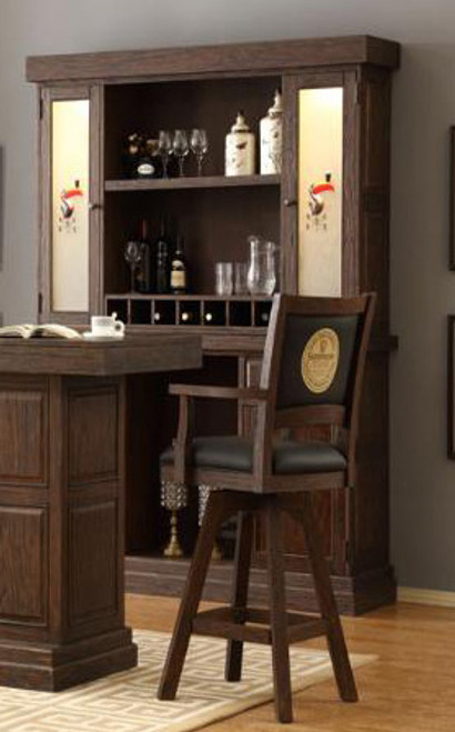 """ECI Guinness 68"""" Distressed Back Bar and Hutch"""