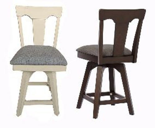 "ECI Choices 24"" Panel Back Counter Stool"