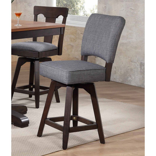 """ECI Choices 24"""" Upholstered Parsons Counter Stool Black Oak"""