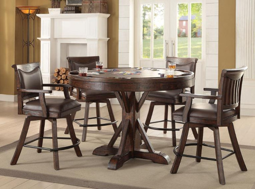ECI Gettysburg Round Counter Height Game Table