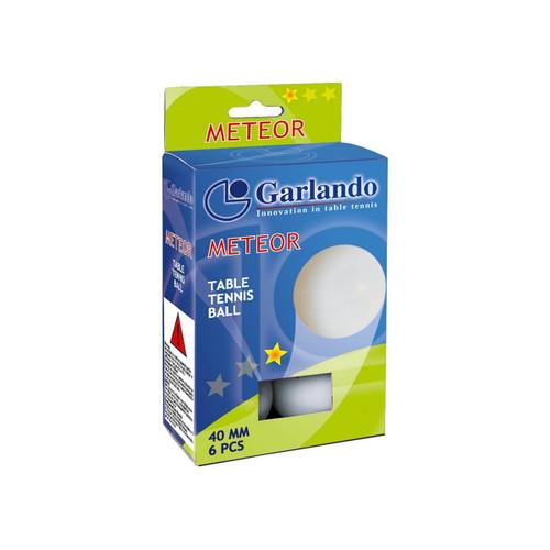 Garlando Meteor 1-Star Table Tennis Balls, Pack of 6