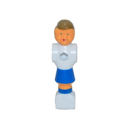 Plastic Blue/White Foosball Player