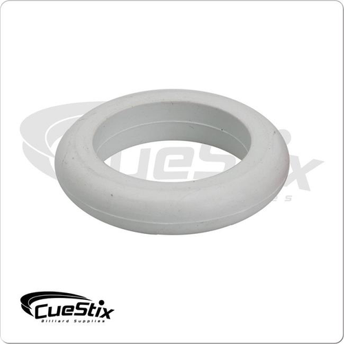 Cuestix Bumper Pool Table Large Post Ring White - Sold Each