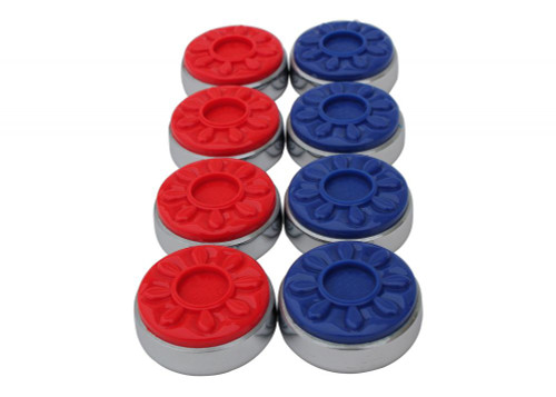 Spangler Deluxe Shuffleboard Weights - Set of 8 Red/Blue