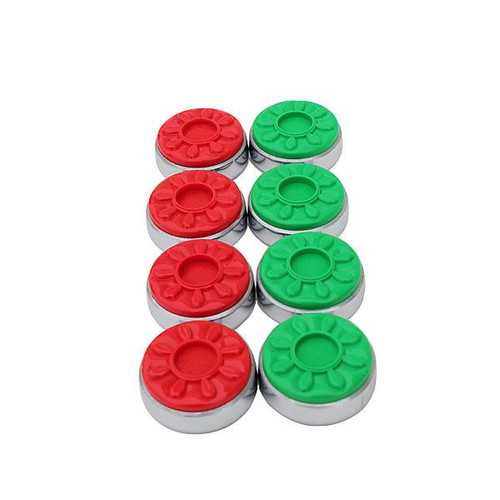 Spangler II Medium Shuffleboard Weights - Set of 8 Red/Green
