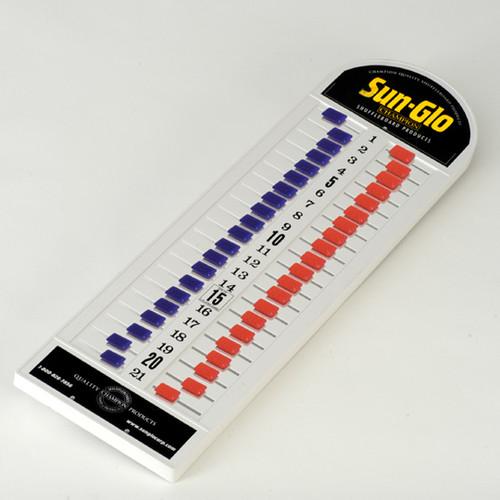 Sun-Glo Plastic Shuffleboard Scoreboard