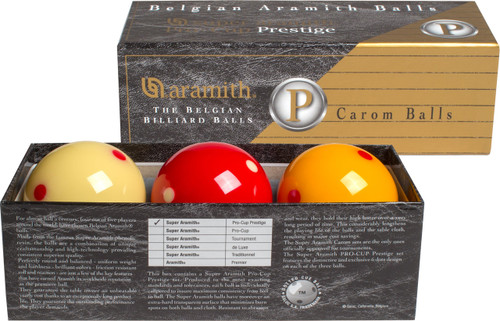 Super Aramith Pro-Cup Prestige Carom Set