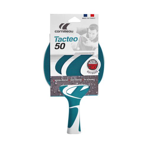 Cornilleau TACTEO 50 Turquoise Weatherproof Table Tennis Racket