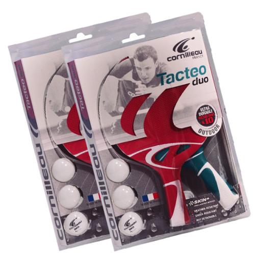 Cornilleau TACTEO DUO Weatherproof Table Tennis Racket Set 2 Pack