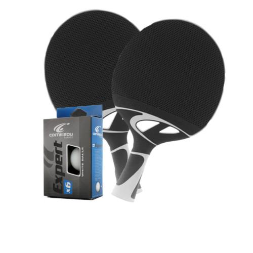 Cornilleau TACTEO 50 Gray Weatherproof Table Tennis 2 -Player Racket Set