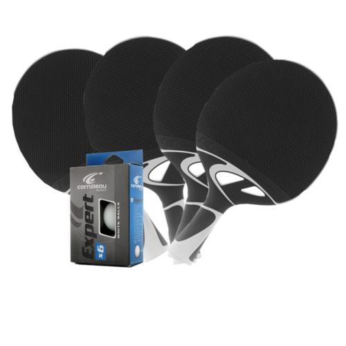 Cornilleau NEXEO X70 Weatherproof Table Tennis 4-Player Racket Set