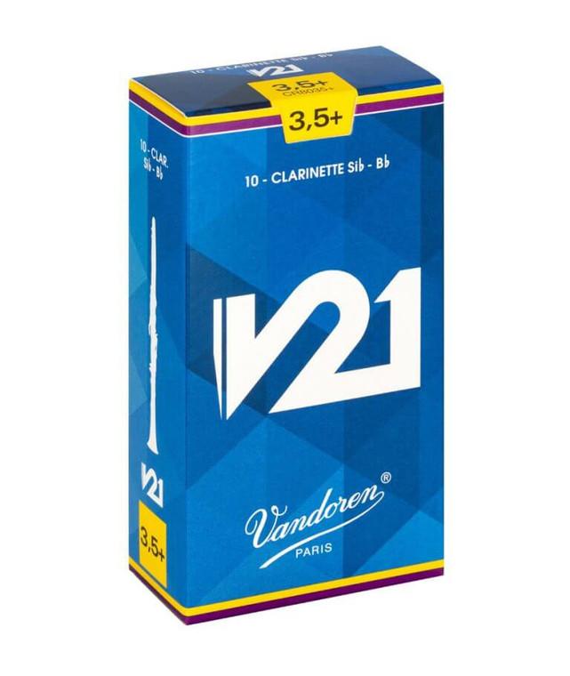 Vandoren V21 B flat Clarinet Reeds, Box of 10