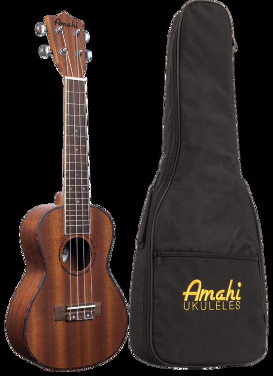 Amahi UK220S-EQ Mahogany Top, Back & Sides, Digital Tuner, Soprano