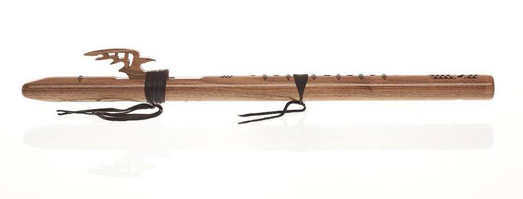 """HIgh Spirits """"Red Tail Hawk"""" Flute in G - Walnut with Turquoise Inlay"""