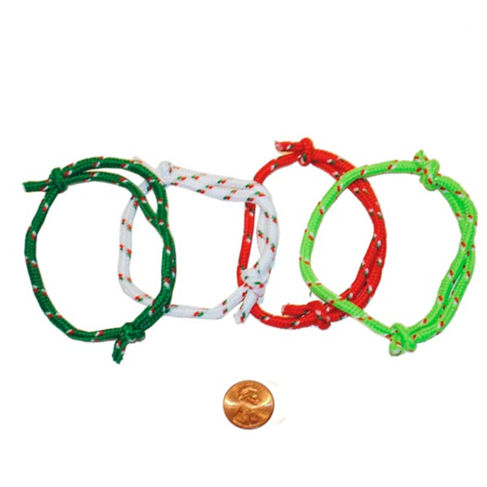 the latest ad29b 7eb93 Christmas Colored Rope Bracelets (72/package) 10¢ each
