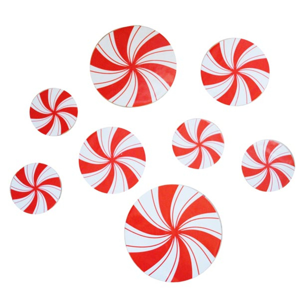 Christmas Candy.Peppermint Candy Floor Decals 8 Package 1 Each