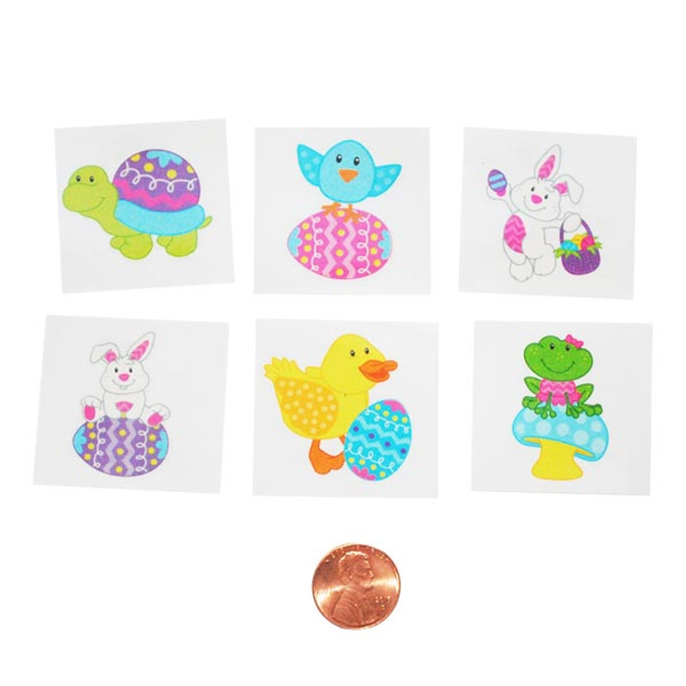 e1734c540 Easter Character Temporary Tattoos - Fun, Easy Face Painting!