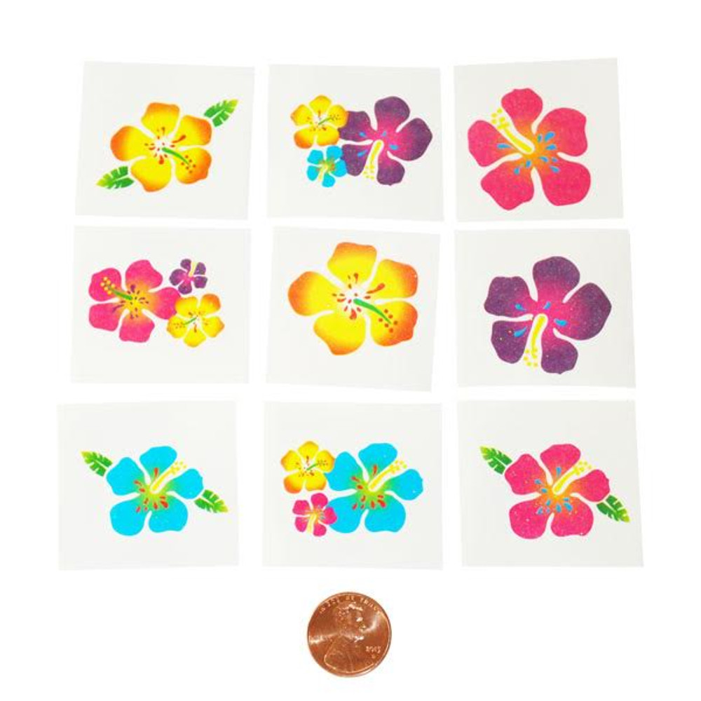652c06dc0 Hibiscus Glitter Tattoos - Temporary Tattoos for Your Luau!