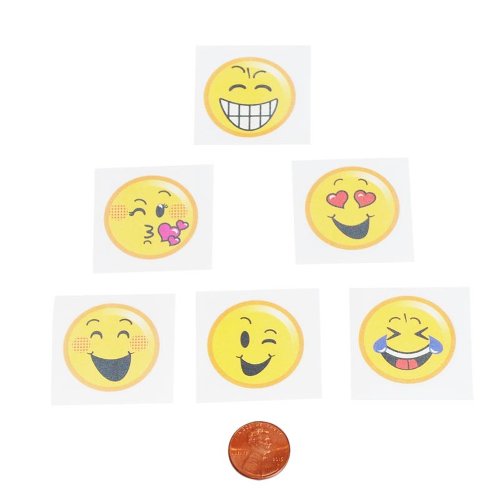 Emoji Kids Removable Tattoos (144 total tattoos in 2 packages) 5¢ each