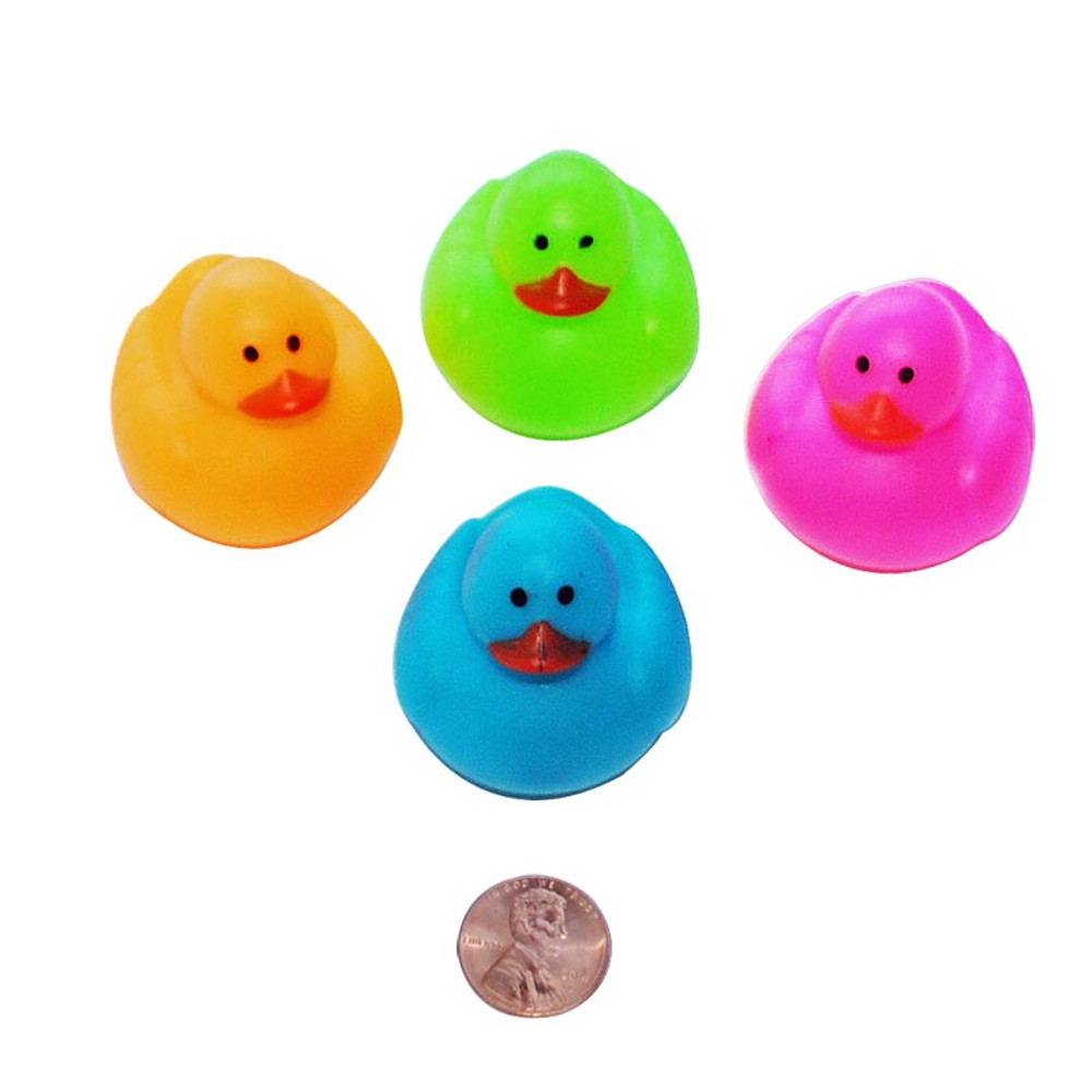 Cute Neon Rubber Ducks Great Floating Toy For Kids