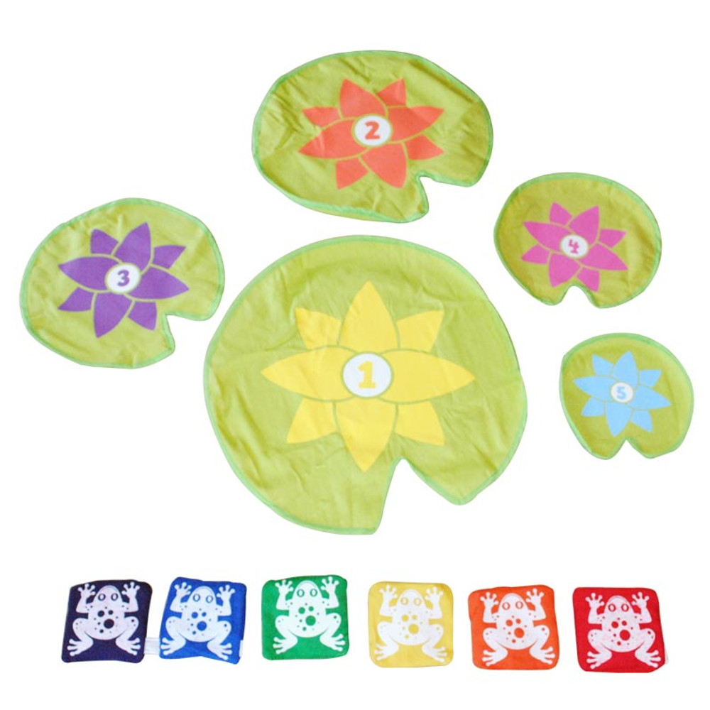 Excellent Bean Bag Leap Frog Game 5 Lily Pads And 6 Frogs Frankydiablos Diy Chair Ideas Frankydiabloscom