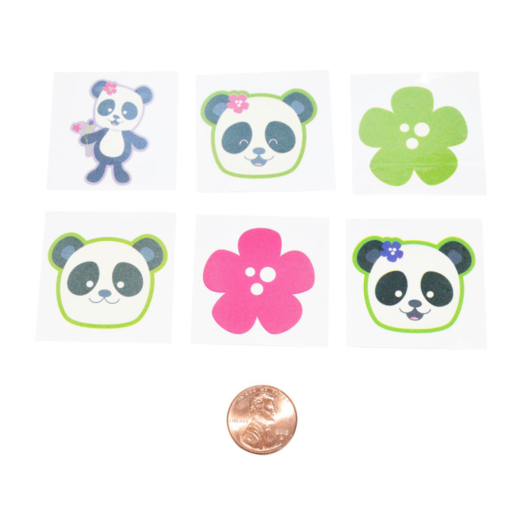 Panda Removable Tattoos (144 total tattoos in 2 packages) 5¢ each