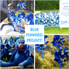 Blue and Silver Pinwheels Bulk for Pinwheel Project - prevent child abuse