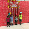 Photo Booth Prop with Carnival Fringe Decoration
