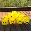 Emoji Plastic Pails Buckets Set of 12