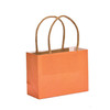 Mini orange paper kraft gift bags wholesale