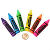 Rubber Crayon Erasers (144 total erasers in 2 bags) 17¢ each
