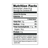 Large Pixie Sticks Nutrition Facts