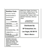 Gold Rush Bubble Gum - Nutrition Facts -Ingredients