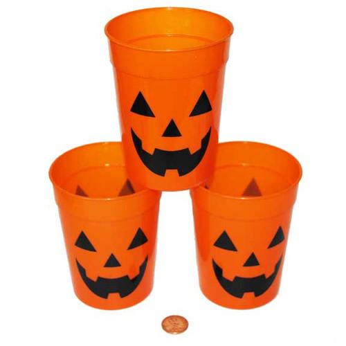 Plastic Pumpkin Cups