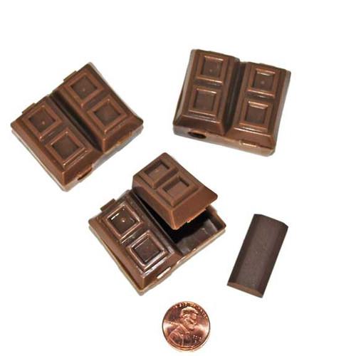 Chocolate Bar Pencil Sharpener and Erasers