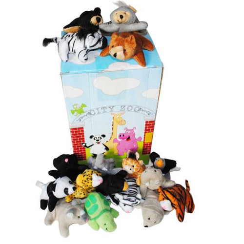Mini Zoo Stuffed Animal Set