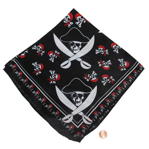 Pirate Themed Bandana - Polyester