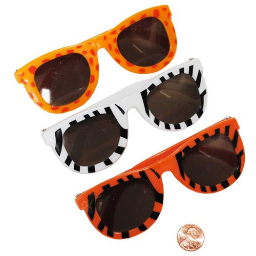 Child Sized Animal Print Sunglasses