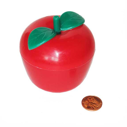 Plastic Apple Containers with Toys